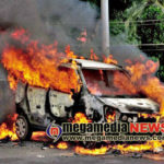 Car-catches-fire