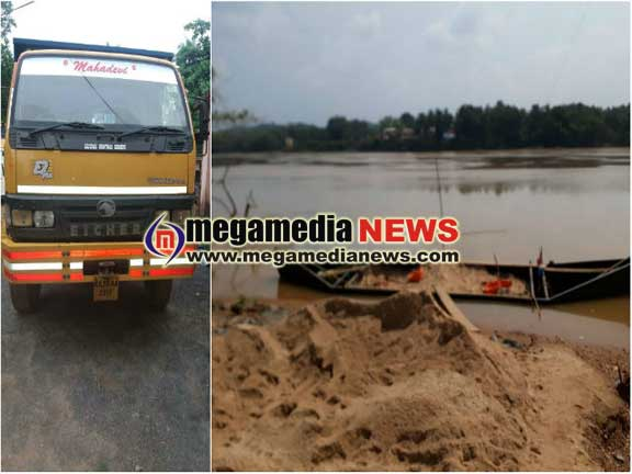 Illegal sand mining: Rs 11.73 lakh worth items seized