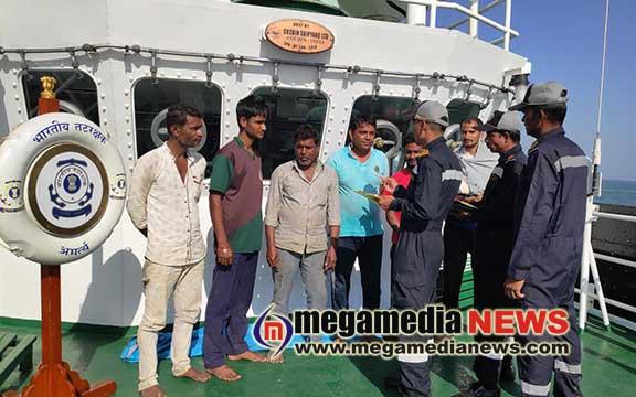 Coast Guard rescues six crew from sinking tug revati off Mumbai