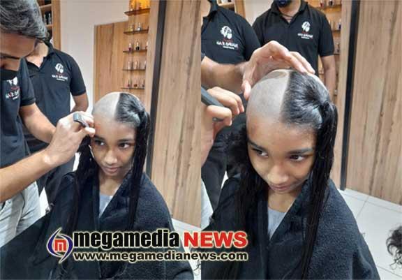 Kendriya Vidyalaya Student donates hair for cancer patients