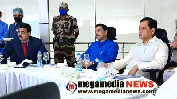 Minister of ports, shipping & waterways Sarbananda Sonowal visits New Mangalore Port Trust