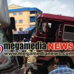 Bus collides lorry